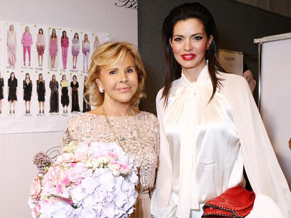 Anna Molinari e Laura Torrisi - sfilata Blumarine - p/e 2013