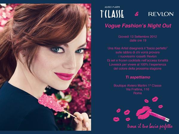 Il Bacio Perfetto...appuntamento  con Revlon e Alviero Martini 1A Classe alla Vogue Fashion's Night Out