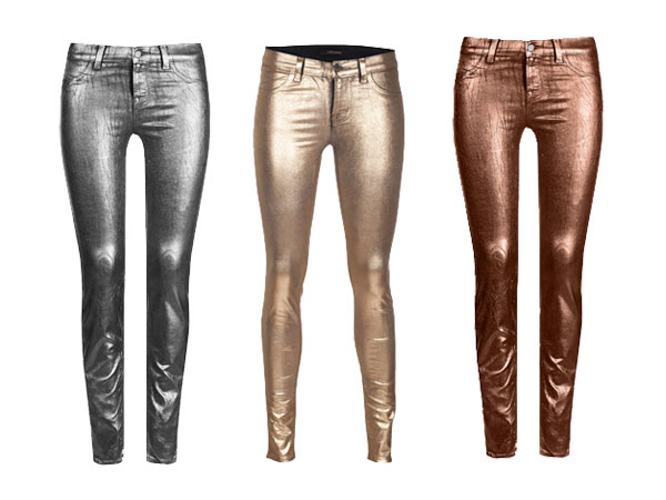 I nuovi leggins Coated Metallic di J Brand