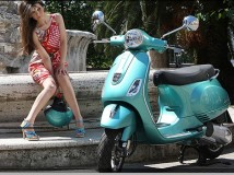 Lo scooter in inverno - Faber