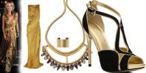 il look dorato di Kate Moss