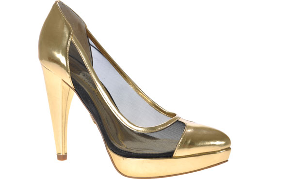 Jorge Bischoff - la scarpa color oro