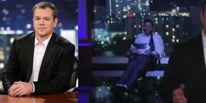 Matt-Damon al Jimmy-Kimmel-Live