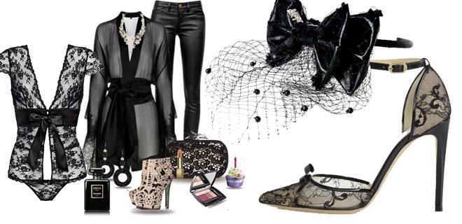 Pizzo nero - moda donna