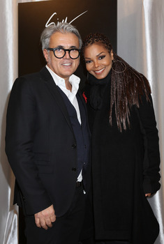 Giuseppe Zanotti and Janet Jackson attend the Vicini Presentation during Milan Fashion Week Womenswear FallWinter 201314 on February 23, 2013 in Milan, Italy
