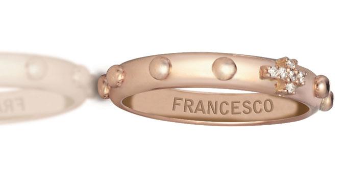 l'anello Rosario per Papa Francesco