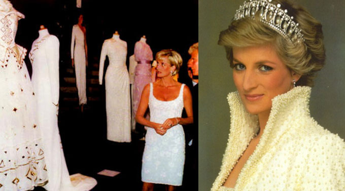 i vestiti da gran soiree di Diana Spencer