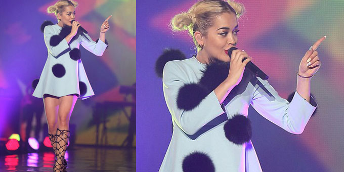 Rita Ora Performing at Tokyo's Fashion Week