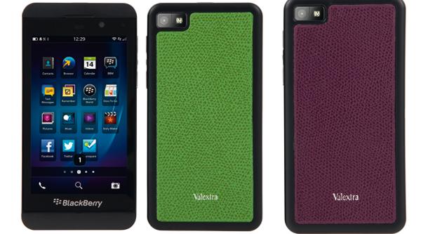 I nuovi smartphone BlackBerry Z10 si vestono con le cover Valextra