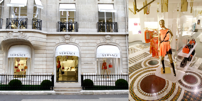 Boutique Versace - Avenue Montaigne 45 - Parigi