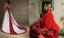 L'abito da sposa rosso