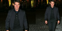 Tom Cruise con il Bomber Blu di Salvatore Ferragamo a New York