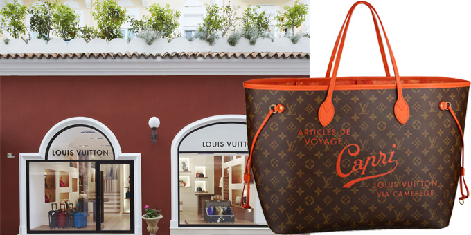 La borsa Neverfull Resort Capri