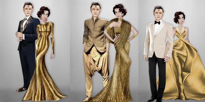 """""""The ultimate gold collection fashion show"""""""