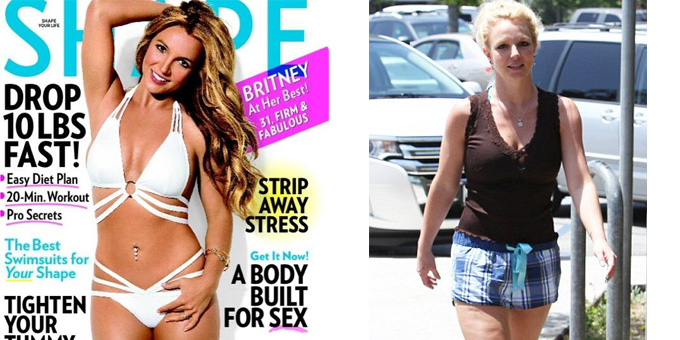 Britney Spears - cellulite