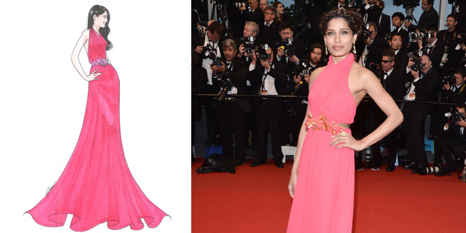 Freida Pinto in Gucci a Cannes