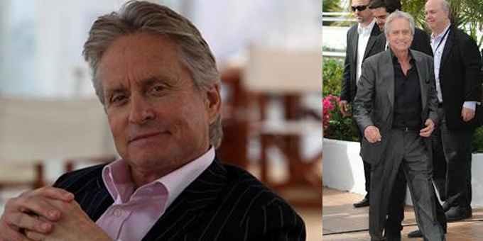 Michael Douglas commuove