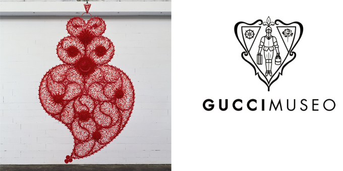 Red Independent Heart - Gucci Museo