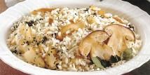 Il risotto con i funghi porcini