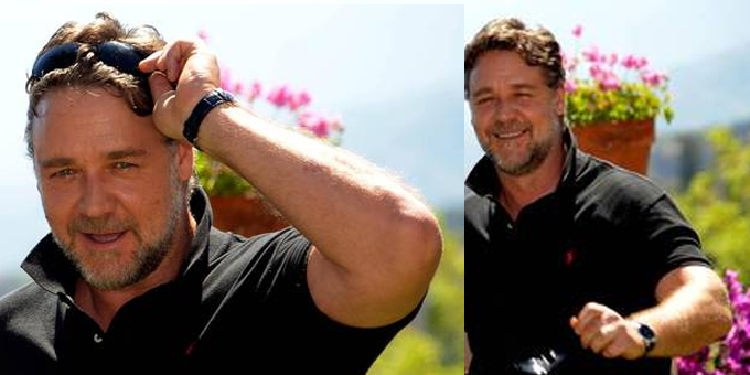 Russell Crowe a Taormina