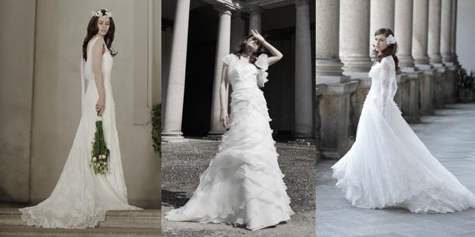 low priced 0e1f7 78211 Il trionfo del bianco negli abiti da sposa Alberta Ferretti ...