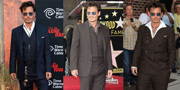 Johnny Depp con i completi di Double RL by Ralph Lauren