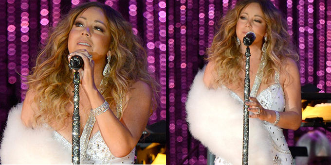 Mariah Carey con il gesso a New York