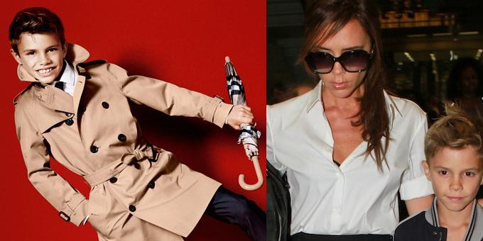 Romeo Beckham per Burberry