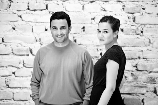 Maria Rosa De Sica, stilista del nuovo brand Mariù De Sica, con il fidanzato Federico Pellegrini