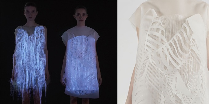 Ying Gao, the photoluminescent dress project. Photo Dominique Lafond