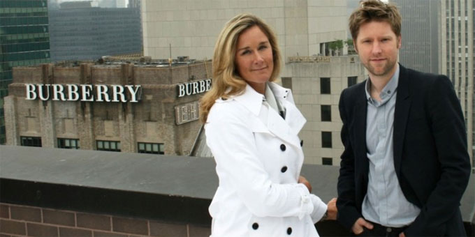 Angela Ahrendts e Christopher Bailey