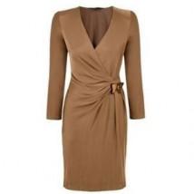 GUCCI Jersey Butterfly Long Sleeve Wrap Dress