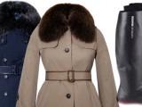 giacca e stivali antipioggia