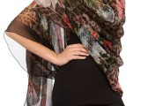Dolce & Gabbana - flower & leopard print silk scarf