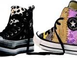 Borchie, colore e brillantini, le sneaker Converse si vestono 'a festa'