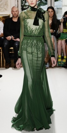 eorges Hobeika Green Couture