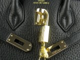 Black Hermes Birkin 25 with Gold Hardware_05