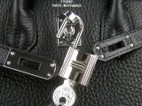 Black Hermes Birkin 25 with Silver Hardware_05