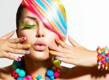 i capelli arcobaleno!