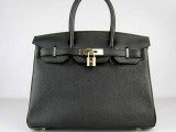 Hermes Birkin bag 30 Black with Gold hardware