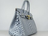 Hermes Birkin bag 30 Blue Fish Skin with Gold hardware_01