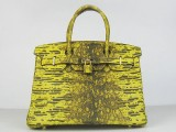 Hermes Birkin bag 30 Yellow Lezard Skin with Gold hardware