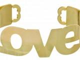 """COCCINELLE: BRACCIALE """"LOVE"""" IN OTTONE – prezzo euro 25"""
