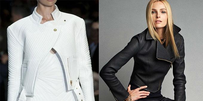 La giacca in pelle