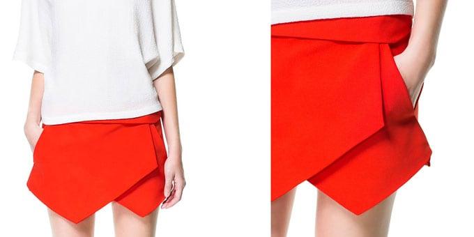 Gonna-pantaloncino di Zara