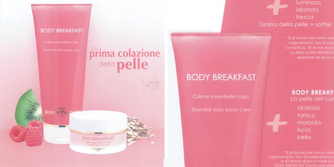 Skin Breakfast e Body Breakfast