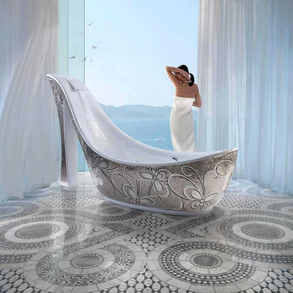 un bagno d'autore - foto via beautyhomedesign.com