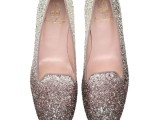 Faye glitter fade to silver - pair