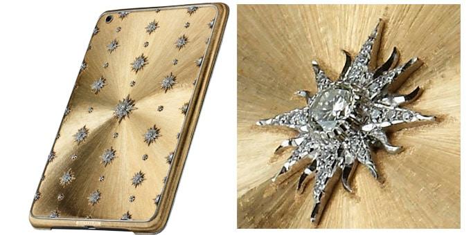 La cover in oro zecchino e diamanti di Buccellati