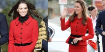 Kate Middleton e l'iconico tailleur rosso